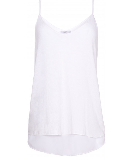 Light knit and sheer camisole