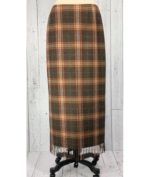 Louben plaid maxi skirt