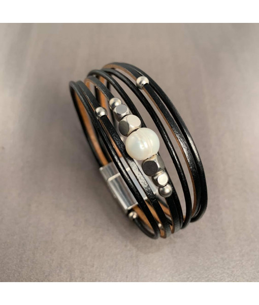 Pearl multi row bracelet