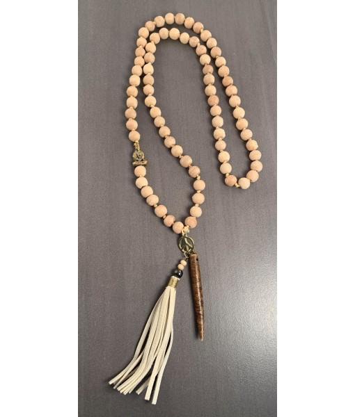 Wood mala necklace