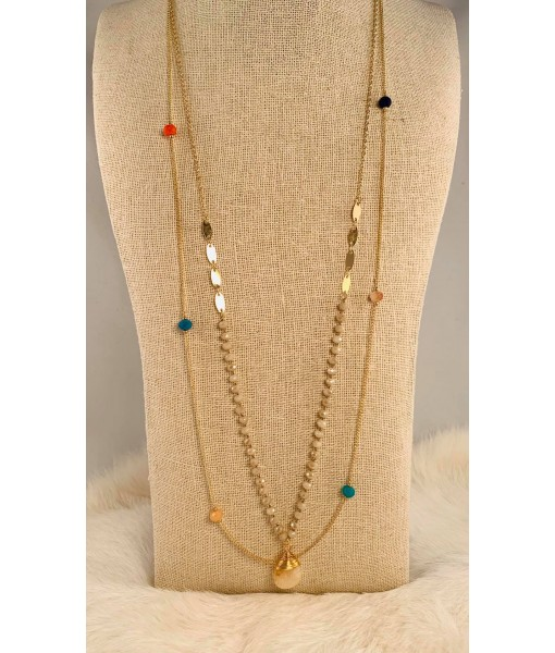 Gold multi row necklace