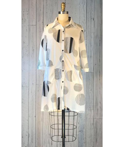 San Lodo geometric print blouse