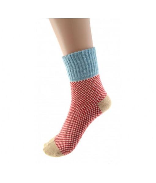 Cedar Paddle Pastel Knit Socks