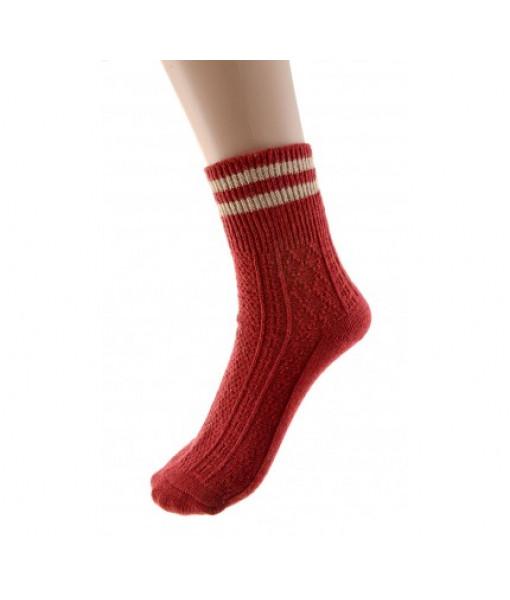 Cedar Paddle Knit Stripe Sock