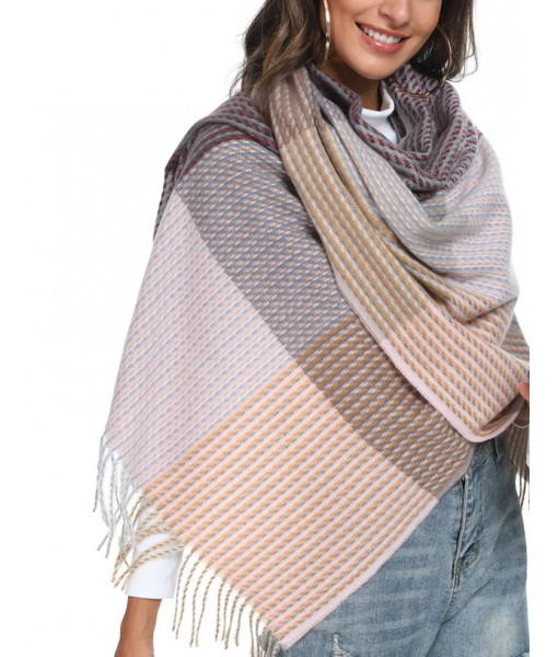 Woven look knit scarf
