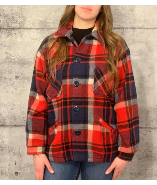 Wool plaid shirt