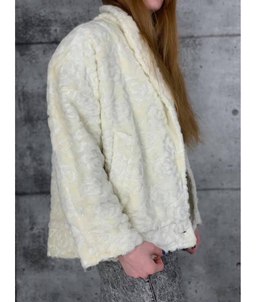 Ivory sherpa coat