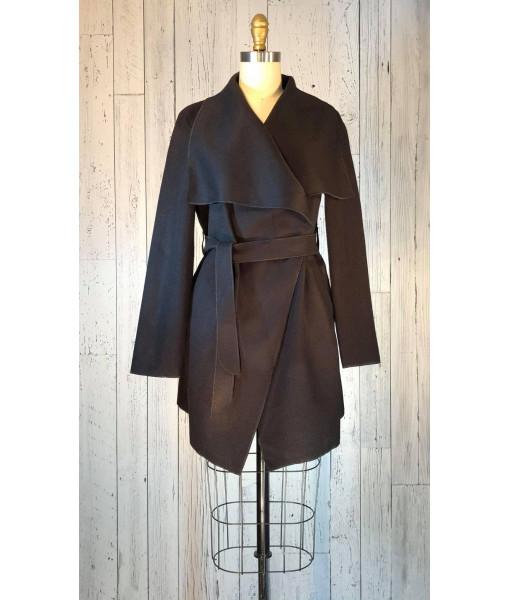 Bella Amore felt trench coat