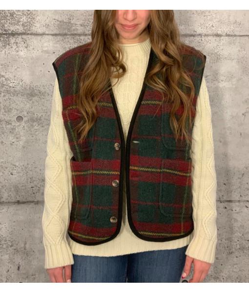 Wool sleeveless jacket
