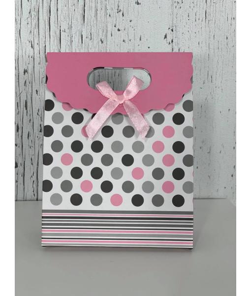 Polka dots mini gift bag