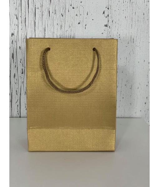 Metallic mini gift bag