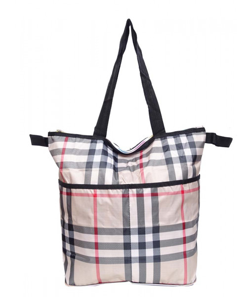 Eco bag plaid