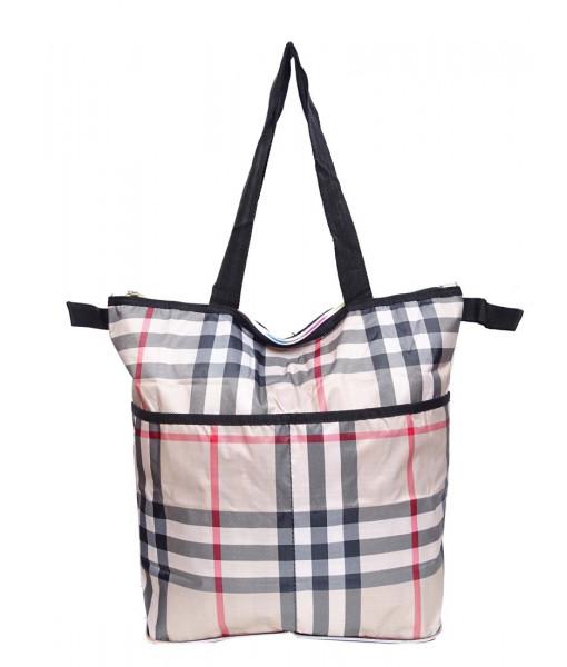 Eco bag plaid