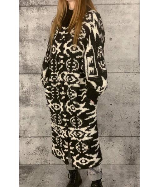 I.B. Diffusion maxi cardigan/jacket