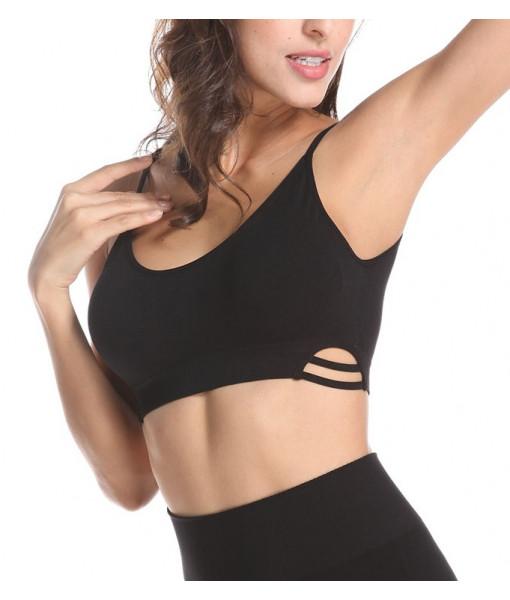 Bamboo open stripe back bra
