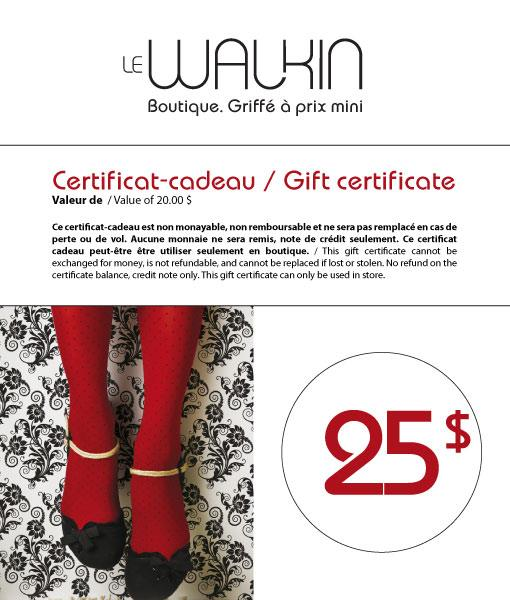 Gift-certificate 25$