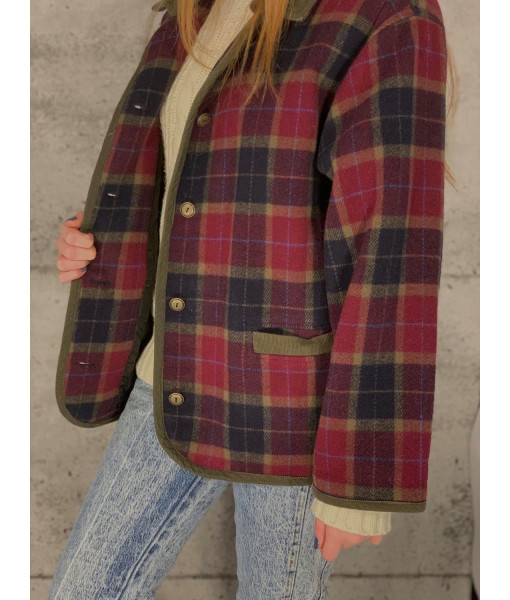 Sequence plaid coat