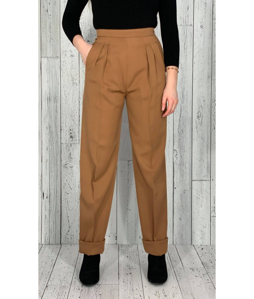 Camel wool pants