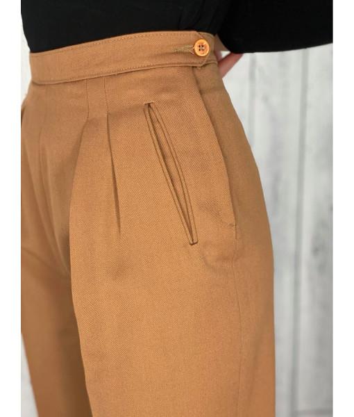 Camel wool pants