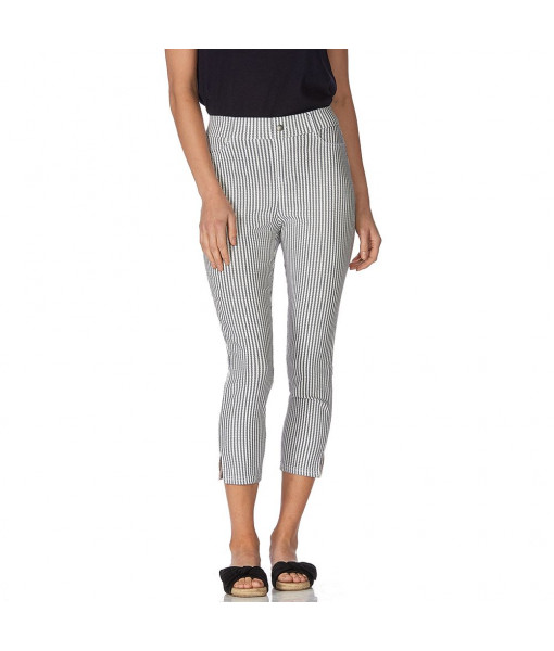 Hue stripe denim capri
