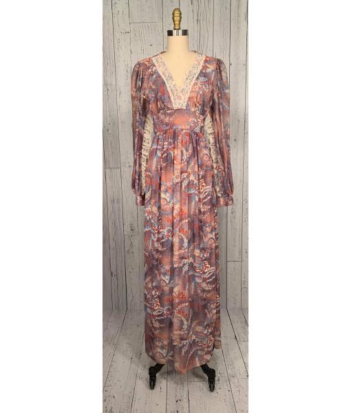1970's boho maxi dress